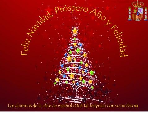 kartka świąteczna hiszpański