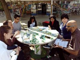 praca nad wspólnym projektem z Indiami i Belgią
